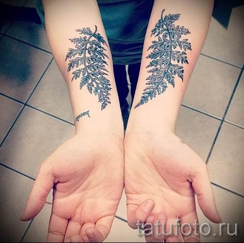 Классная тату папоротник на фото - для статьи про значение татуировки 41
