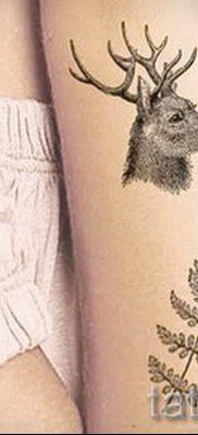 Классная тату папоротник на фото – для статьи про значение татуировки 42