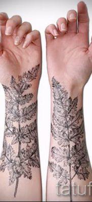 Классная тату папоротник на фото – для статьи про значение татуировки 43