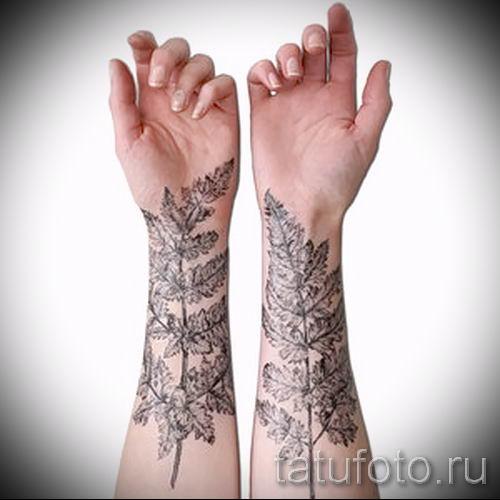 Классная тату папоротник на фото - для статьи про значение татуировки 43