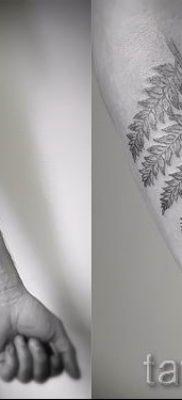 Классная тату папоротник на фото – для статьи про значение татуировки 50
