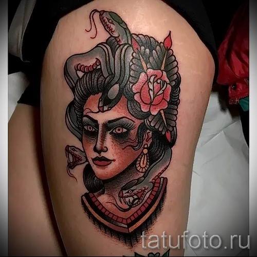 Медуза Горгона тату - фото пример для статьи про значение татуировки 3
