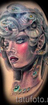 Медуза Горгона тату – фото пример для статьи про значение татуировки 4