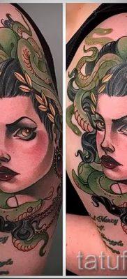 Медуза Горгона тату – фото пример для статьи про значение татуировки 7