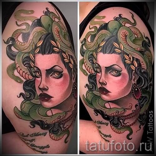 Медуза Горгона тату - фото пример для статьи про значение татуировки 7