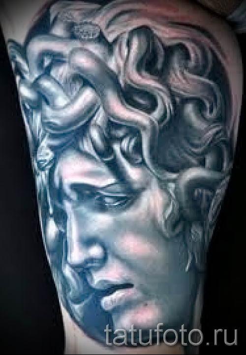 Медуза Горгона тату - фото пример для статьи про значение татуировки 8