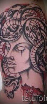 Медуза Горгона тату – фото пример для статьи про значение татуировки 11