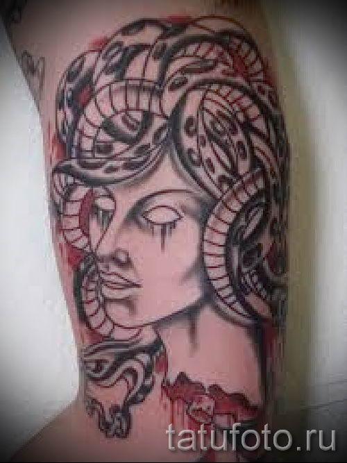 Медуза Горгона тату - фото пример для статьи про значение татуировки 11