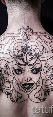 Медуза Горгона тату – фото пример для статьи про значение татуировки 14
