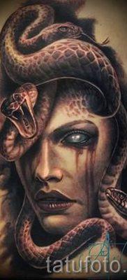 Медуза Горгона тату – фото пример для статьи про значение татуировки 17
