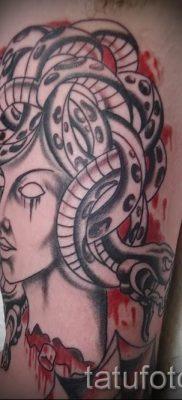 Медуза Горгона тату – фото пример для статьи про значение татуировки 19