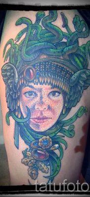 Медуза Горгона тату – фото пример для статьи про значение татуировки 20