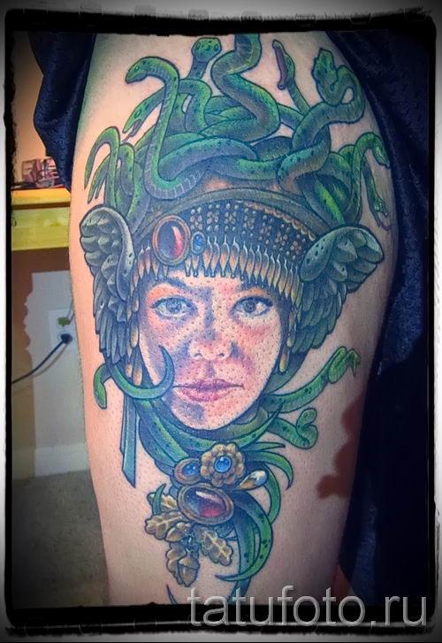 Медуза Горгона тату - фото пример для статьи про значение татуировки 20