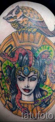 Медуза Горгона тату – фото пример для статьи про значение татуировки 22
