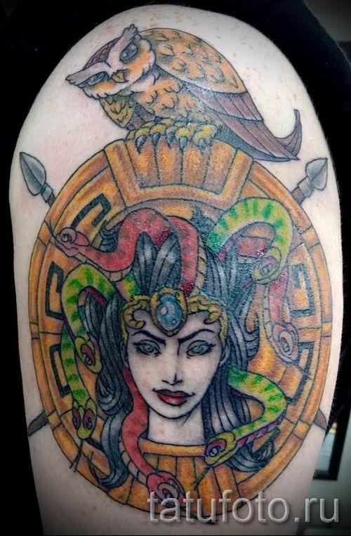 Медуза Горгона тату - фото пример для статьи про значение татуировки 22