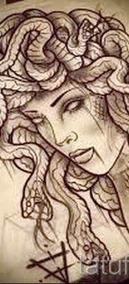 Медуза Горгона тату – фото пример для статьи про значение татуировки 23