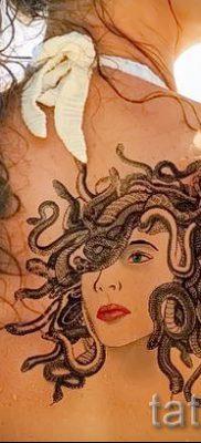 Медуза Горгона тату – фото пример для статьи про значение татуировки 25