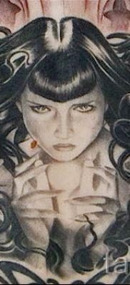 Медуза Горгона тату – фото пример для статьи про значение татуировки 27