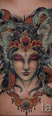 Медуза Горгона тату – фото пример для статьи про значение татуировки 28