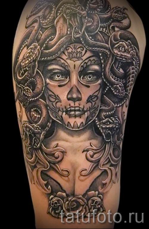 Медуза Горгона тату - фото пример для статьи про значение татуировки 29