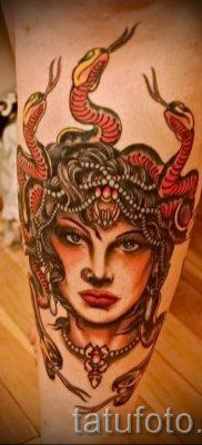 Медуза Горгона тату – фото пример для статьи про значение татуировки 31