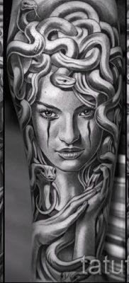 Медуза Горгона тату – фото пример для статьи про значение татуировки 37
