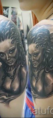 Медуза Горгона тату – фото пример для статьи про значение татуировки 41