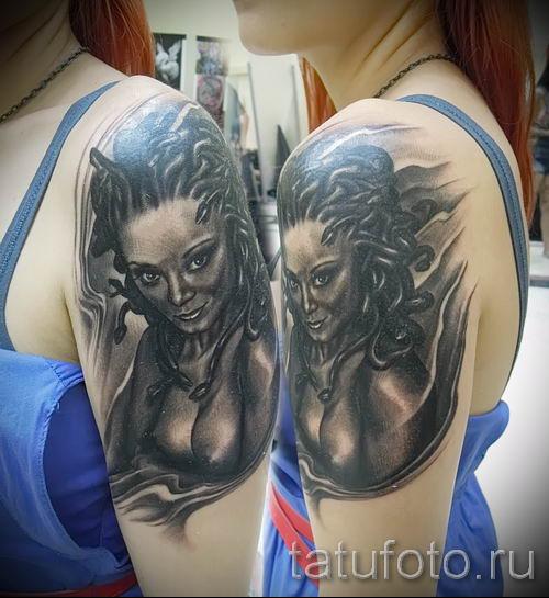 Медуза Горгона тату - фото пример для статьи про значение татуировки 41