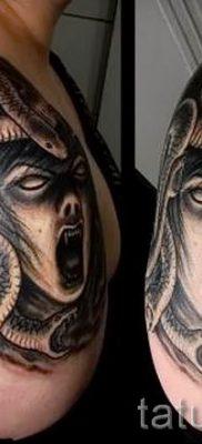Медуза Горгона тату – фото пример для статьи про значение татуировки 42