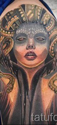 Медуза Горгона тату – фото пример для статьи про значение татуировки 44