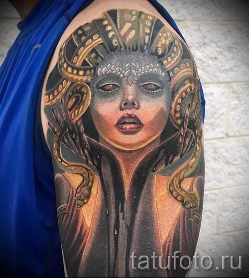 Медуза Горгона тату - фото пример для статьи про значение татуировки 44