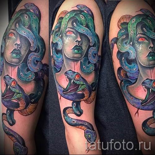 Медуза Горгона тату - фото пример для статьи про значение татуировки 45