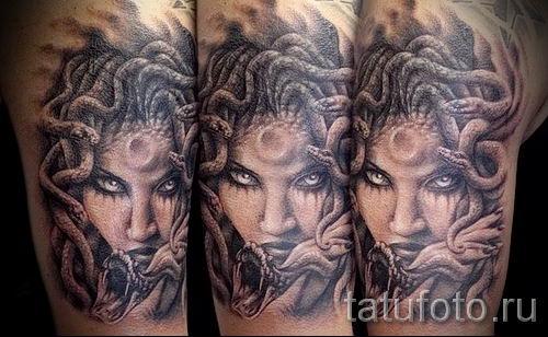 Медуза Горгона тату - фото пример для статьи про значение татуировки 47