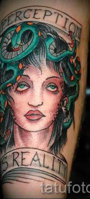 Медуза Горгона тату – фото пример для статьи про значение татуировки 48