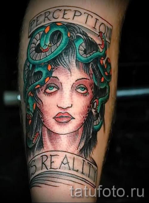 Медуза Горгона тату - фото пример для статьи про значение татуировки 48