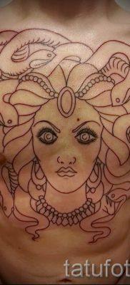 Медуза Горгона тату – фото пример для статьи про значение татуировки 49