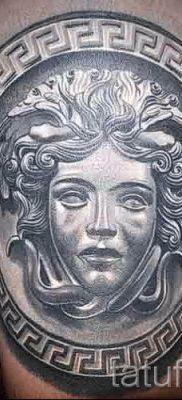 Медуза Горгона тату – фото пример для статьи про значение татуировки 54