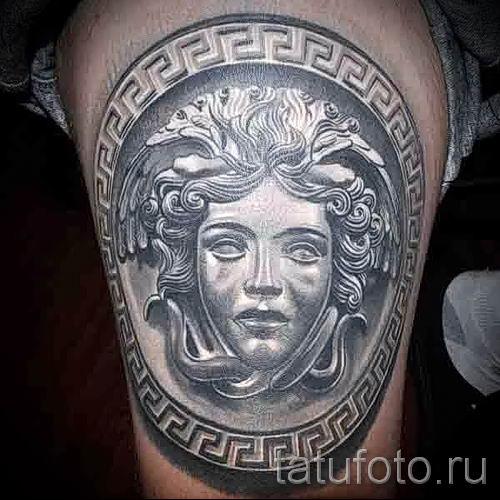 Медуза Горгона тату - фото пример для статьи про значение татуировки 54