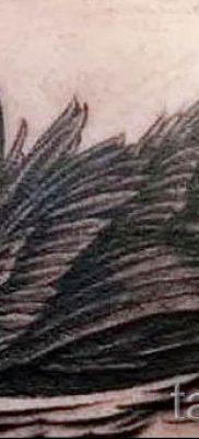 Пример татуировки с лебедем – фото для статьи про значение тату  1