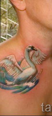 Пример татуировки с лебедем – фото для статьи про значение тату  19