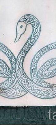 Пример татуировки с лебедем – фото для статьи про значение тату  21