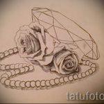 Пример эскиза для татуировки бриллиант - вариант - 038 tatufoto.ru 1