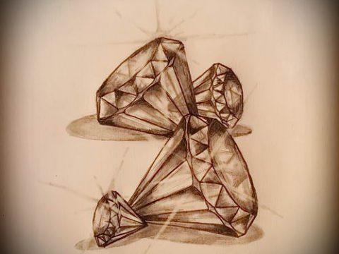 Пример эскиза для татуировки бриллиант - вариант - tatufoto.ru 4