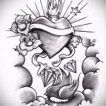 Пример эскиза для татуировки бриллиант - вариант - tatufoto.ru 5