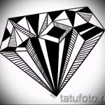 Пример эскиза для татуировки бриллиант - вариант - tatufoto.ru 6