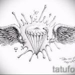 Пример эскиза для татуировки бриллиант - вариант - tatufoto.ru 14