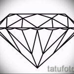 Пример эскиза для татуировки бриллиант - вариант - tatufoto.ru 18