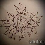 Пример эскиза для татуировки бриллиант - вариант - tatufoto.ru 19