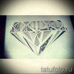 Пример эскиза для татуировки бриллиант - вариант - tatufoto.ru 22