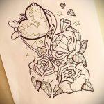 Пример эскиза для татуировки бриллиант - вариант - tatufoto.ru 27